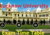 Lucknow University Exam Scheme