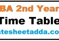 BA 2nd Year Time Table