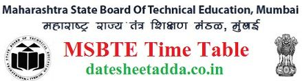 MSBTE Time Table 2021