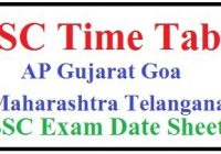 SSC Time Table