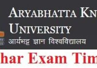 AKU Bihar B.Tech Exam Time Table