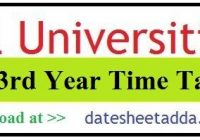 BA 3rd Year Time Table