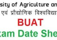 Banda University of Agriculture and Technology Exam Schedule