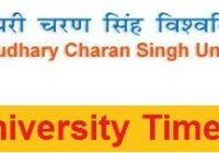 CCS University Time Table 2021
