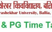 Jananayak Chandrashekhar University Time Table