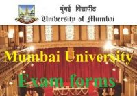 Mumbai University Exam form