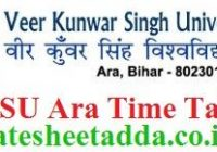 VKSU Ara Time Table