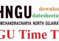 HNGU Time Table