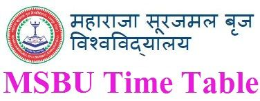 Brij University Time Table 2021