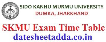 Sido Kanhu Murmu University Exam Schedule 2021