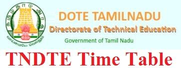 TNDTE Diploma Time Table 2021
