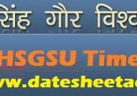 DHSGS University Time Table 2022