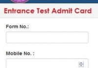 Delhi University UG Entrance Exam Admit Card