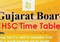GSEB HSC Time Table 2022
