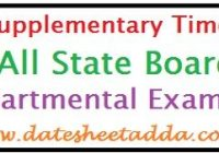 10th Supplementary Time Table 2020