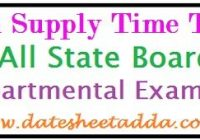 12th Supplementary Time Table 2019
