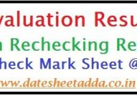 10th Class Revaluation Result 2021