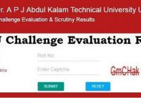 AKTU Challenge Evaluation Result 2019