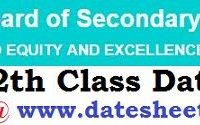 CBSE 12th Class Date Sheet 2020