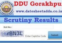 Gorakhpur University Revaluation Result 2019