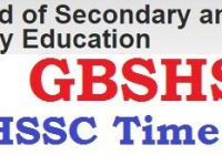 Goa Board HSSC Time Table 2020