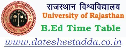 Uniraj B.Ed Time Table 2021