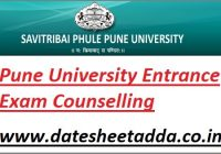 SSPU Entrance Exam Counselling Schedule 2021
