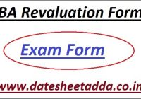 BA 1st/2nd/3rd Year Rechecking Form 2021