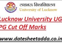 Lucknow University Cut Off Marks 2021